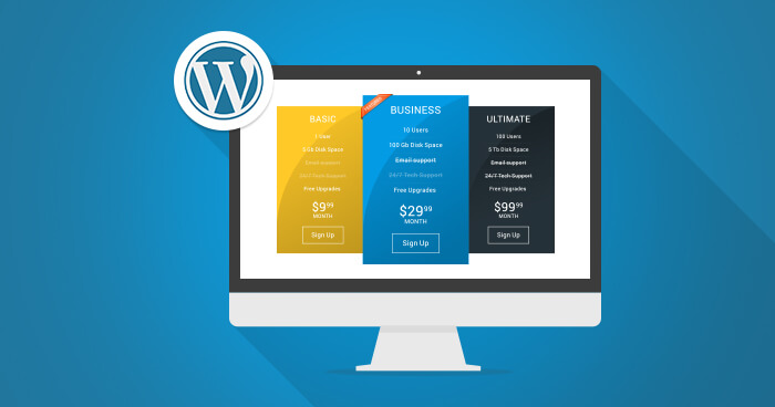plugin tạo bảng giá wordpress pricing table