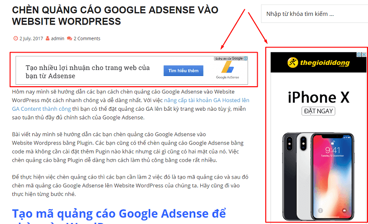 so sánh kiếm tiền affiliate marketing và google adsense