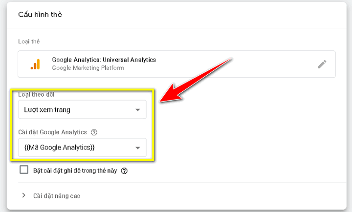 cài google analytics bằng google tag manager